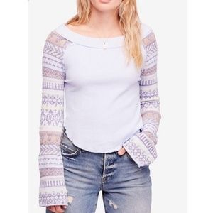 NWT Free People Fairground Thermal Top